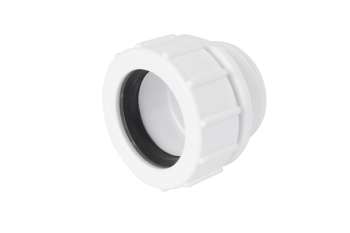 Osma waste running adaptor white 40mm