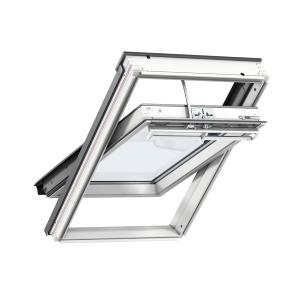 VELUX INTEGRA® Electric Centre Pivot Roof Window 550mm x 780mm White Painted GGL CK02 207021U