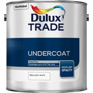 Dulux Trade Undercoat Paint Brilliant White 2.5L