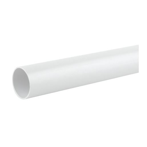 Osma Push-Fit Waste 4W073W 32mm Plain Ended Pipe White 3m