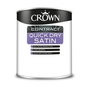 Crown Contract Crown Quick Dry Satin Brilliant White 1L