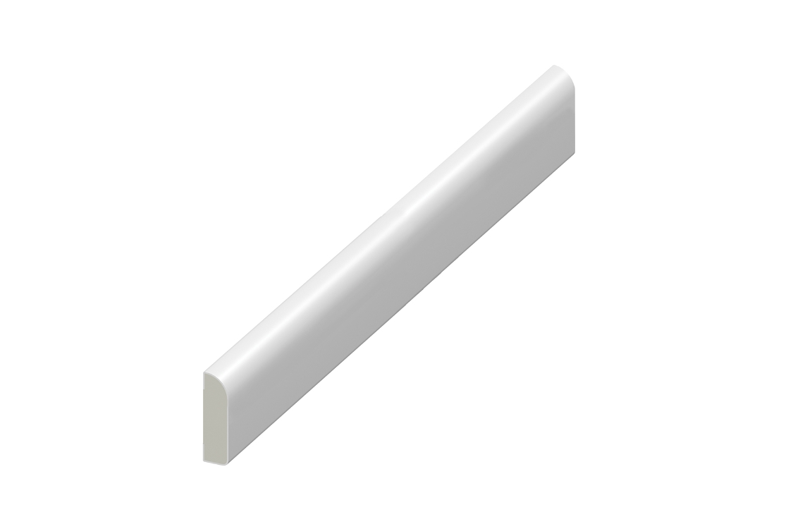 Eurocell Window Trim Upvc Pencil Round Architrave 45mm 5m White