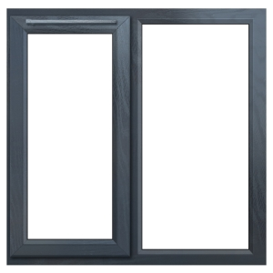 Euramax Grey Upvc Casement Window 2P Left Side Hung 1190 x 1190mm