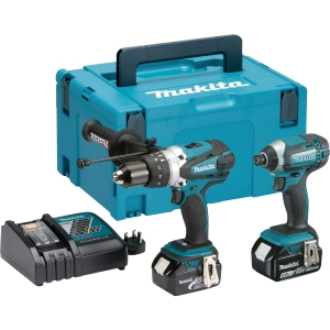Makita LXT Cordless Hammer Drill and Impact Driver 18V DLX2145TJ - 2 Pack
