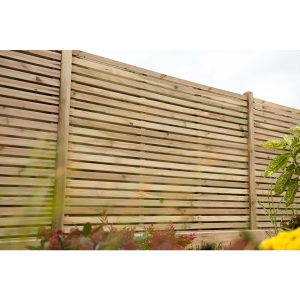 Double Slatted Fence Panel 1800mm (W) x 1800mm (H)