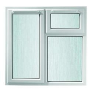 Euramax White Stippolyte Upvc Casement Window 2P Top and Left Side Hung 1190 x 1190mm
