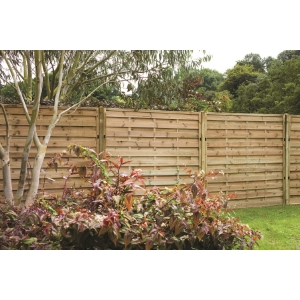Europa Plain/Vertical Hit and Miss Fence Panel 1800mm x 1800mm