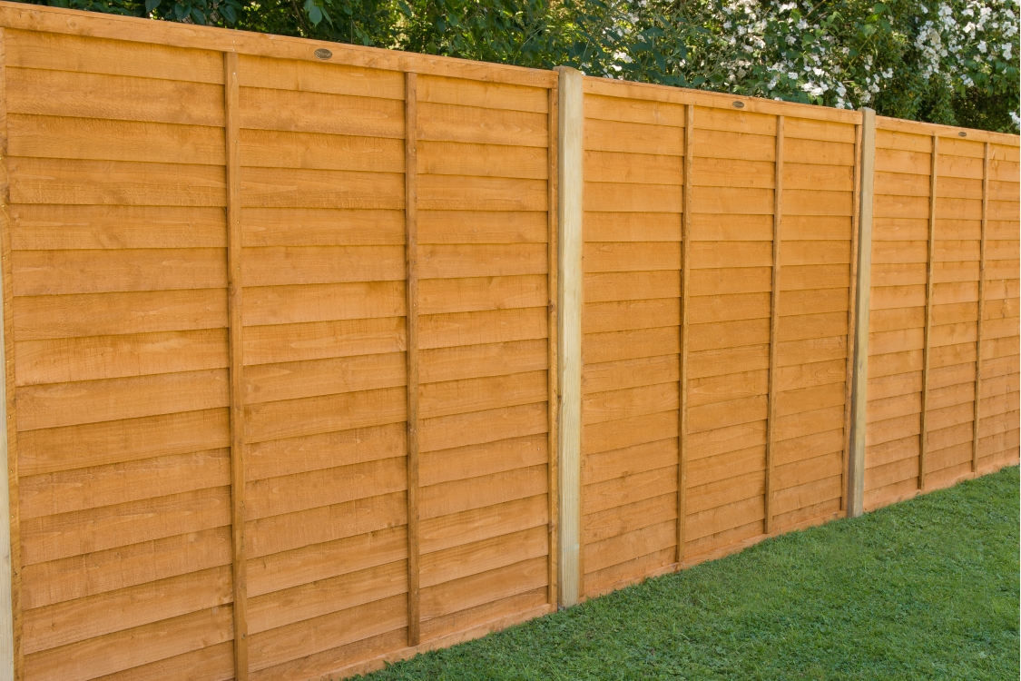 6ft x 6ft 1.83m x 1.83m Dip Treated Overlap Fence Panel - Pack of 3