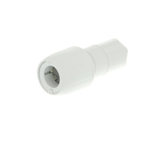 Hep2O socket reducer white 15x10mm