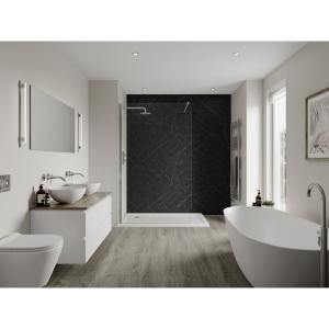 Multipanel Linda Barker Bathroom Wall Panel Hydrolock Nero Grafite 9485