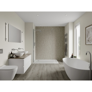 Multipanel Linda Barker Bathroom Wall Panel Hydrolock Stone Elements 8831