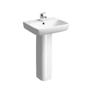 Twyford E100 Square Washbasin 1 Tap 550mm x 440mm E14241WH
