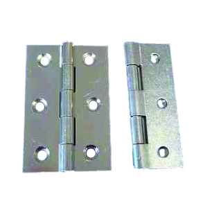 4Trade Butt Hinges Fixed Pin 75mm Zinc Plated Pack of 2