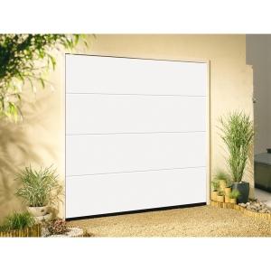 Garador Linear Grain White Garage Door 2136mm x 2439mm