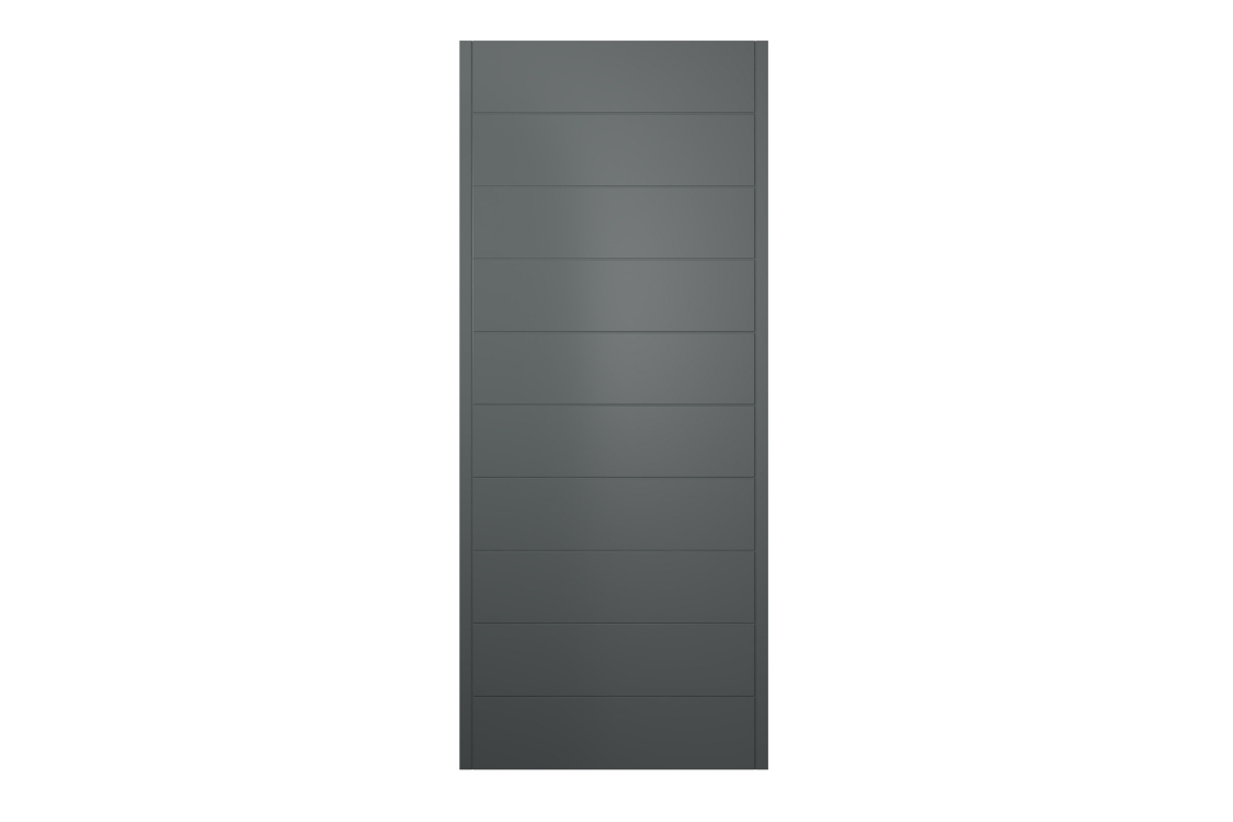 Oslo Ultimate External Front Grey Hardwood Veneer Door 2032 mm x 813 mm x 44 mm