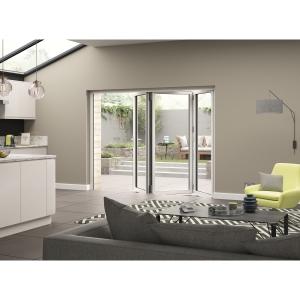External Aluminium White Left Opening Bifold Door Set 2390mm wide