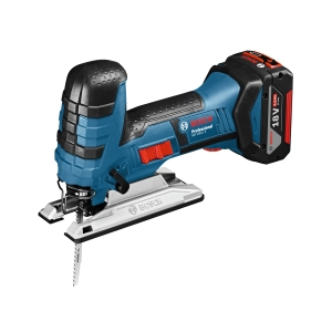 Bosch Gst 18V-LIS 18V Jigsaw with 2 x 5.0 Ah Batteries and Charger in A L-BOXX