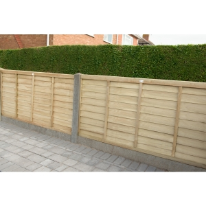 6ft x 3ft 1.83m x 0.91m Pressure Treated Superlap Fence Panel - Pack of 3