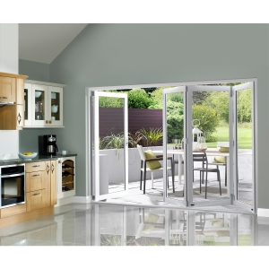 External Slimline Pre-finished White Bifold Door Set 2990mm wide