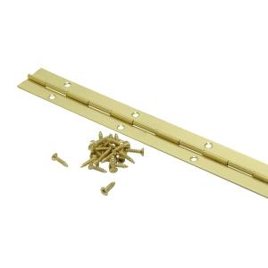 4TRADE Piano Hinge Electro Brass 900mm