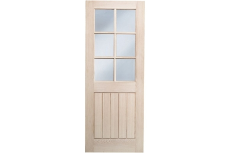 Internal Suffolk Oak Glazed Door 1981 mm x 762 mm x 35 mm