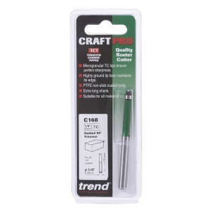 Trend Bearing Guided Trimmer 6.35mm x 25.4mm
