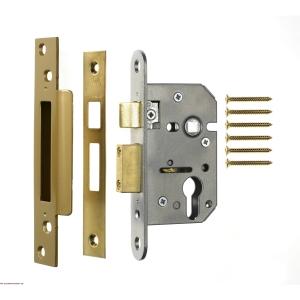 4Trade Mortice Sashlock Case Euro Profile 76mm Brass