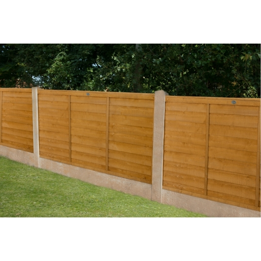 6ft x 4ft 1.83m x 1.22m Dip Treated Overlap Fence Panel - Pack of 3