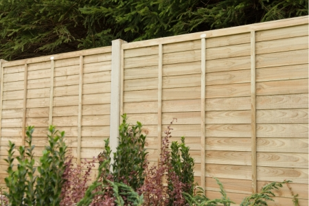 6ft x 6ft 1.83m x 1.83m Pressure Treated Superlap Fence Panel - Pack of 4