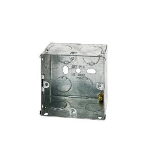 4TRADE 1 gang Metal Back Box 35mm