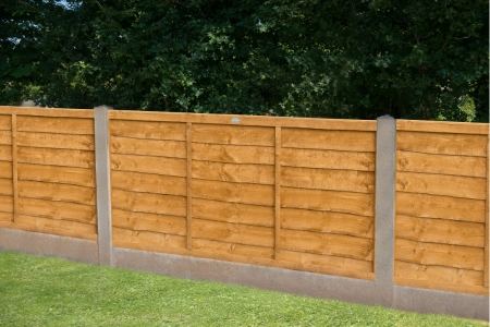 Trade Lap Dip Treated Fence Panel 6 ft x 3 ft (1.83m x 0.91m)