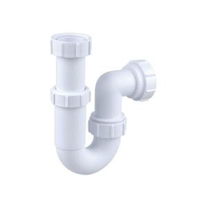 Osma Waste 40mm Adjustable Tubular P Trap 75mm Seal 5V807W