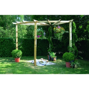 Pressure Treated Timber Radial Pergola 90 Degrees