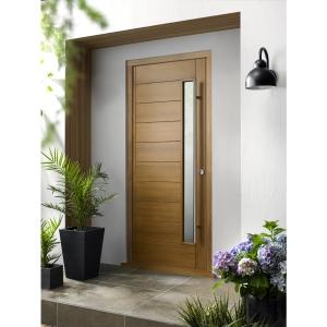 Stockholm Ultimate External Oak Front Door with Outer Frame