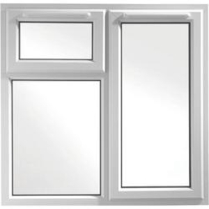 Euramax White Upvc Casement Window 3P Top and Right Side Hung 1190 x 1190mm