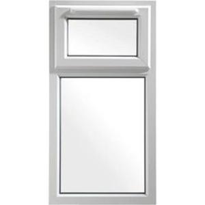 Euramax White Upvc Casement Window 2P Top Hung 610 x 1190mm