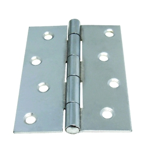 4Trade Butt Hinge Chrome Plated 102mm Fixed Pin 1838