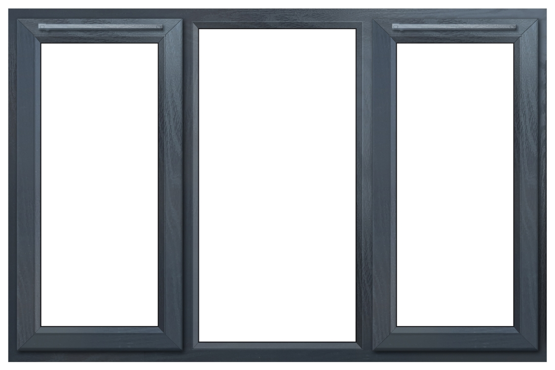 Euramax Grey Upvc Casement Window 3P Left and Right Side Hung 1770 x 1190mm
