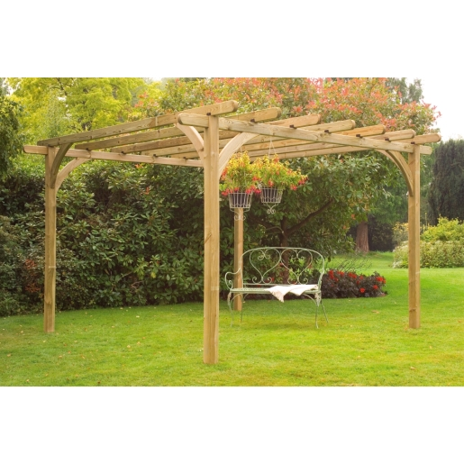 Pressure Treated Timber Ultima Pergola Kit 3600mm x 3600mm