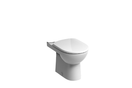 Twyford E100 Square Close Coupled Premium  Flushwise Toilet Pan E11248WH