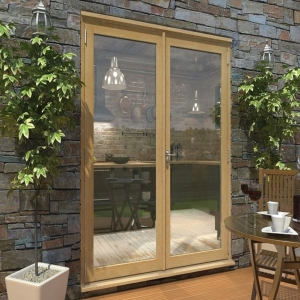 Pattern 10 Unfinished Oak French Doors - 6ft