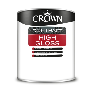 Crown Contract Crown High Gloss Brilliant White 1L