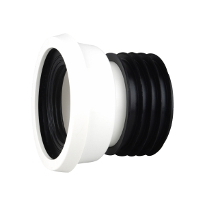 "OsmaSoil WC004W 110mm Easy-Fit Wc Pan Connector Straight 4"" White"