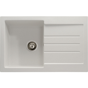 Abode Xcite 1 Bowl Inset White Composite Kitchen Sink