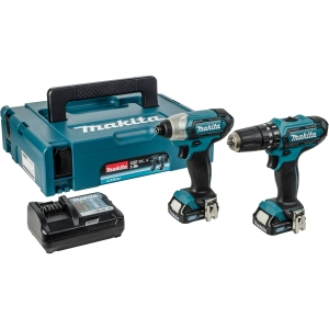 Makita LXT Combi Drill and Impact Driver 12V CLX228AJ - 2 Pack