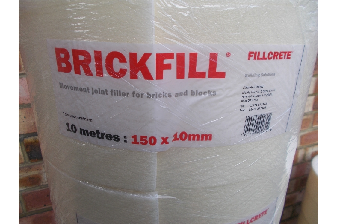 Fillcrete Expansion Joint Brickfill Roll 12mm x 150mm x 10m