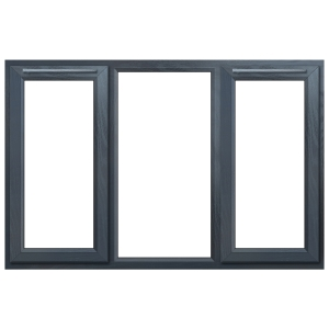 Euramax Grey Upvc Casement Window 3P Left and Right Side Hung 1770 x 1040mm