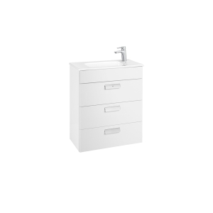 Debba Basin Unit 605 x 360 3 Drawers Gloss White