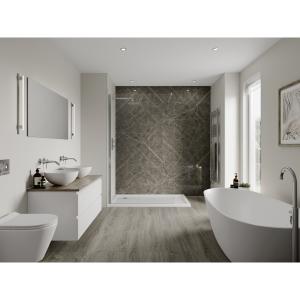 Multipanel Linda Barker Bathroom Wall Panel Hydrolock Ferro Grafite 9483