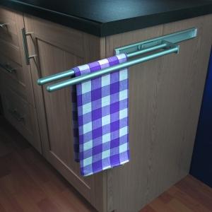 Hafele 2 Arm Aluminium Towel Rail